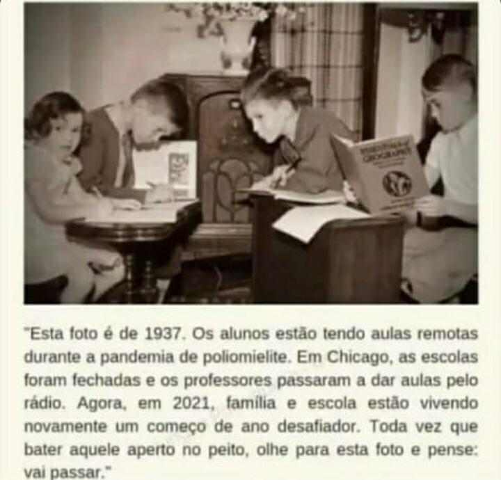 Atualidades de 1937 - EAD na pandemia de poliomielite